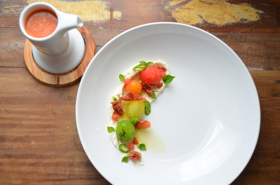 Watermelon Gazpacho, Heirloom Tomato, Jamon Serrano, Padron Pepper ...